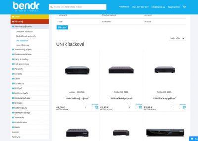 E-shop firmy BENDR