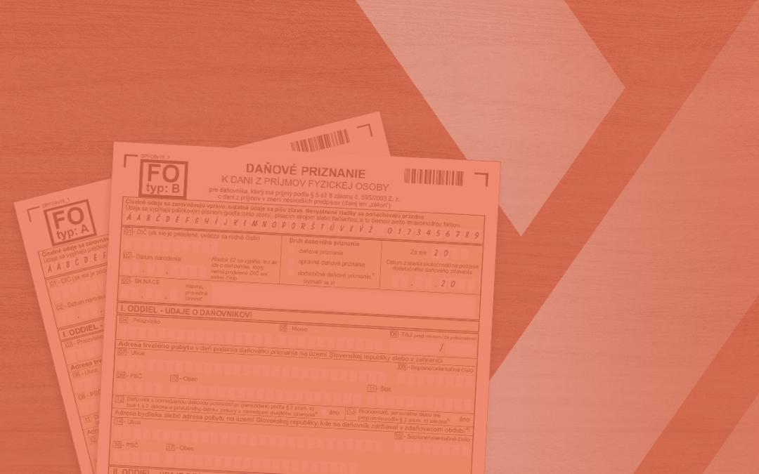 Daňové priznanie fyzickej osoby za rok 2019